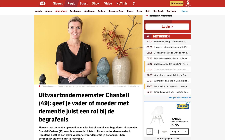 Interview Chantell AD - Persoonlijk afscheid